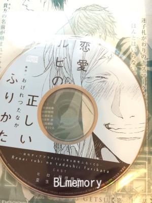 ディアプラス9月号 ふろく 恋愛ルビの正しいふりから ミニドラマCD